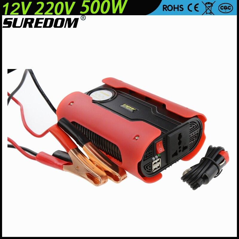 Single Output Type 12v 220v 500w Peak 1000w Car Power