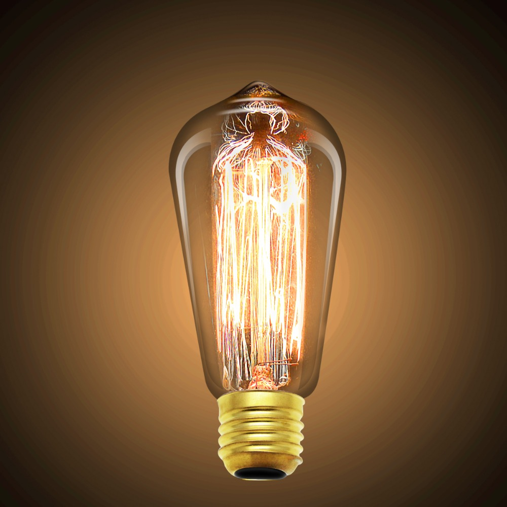 Buy 3200lm Edison Bulb Light E27 220v Retro Filament Bulbs Lamp 40w