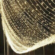 10-50 м светодиодный гирлянда, Рождественская, Новогодняя гирлянда, украшение для уличной комнаты, для использования в саду, для наружного использования, сделай сам, Декор, ЕС, США, штепсельная вилка