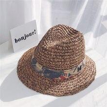 Velejador verão Chapéus Para As Mulheres Lady Meninas Estilo Britânico Arco  de Palha Chapéu de Sol Cap Chapéu de Praia Disquete . ecec1405c36