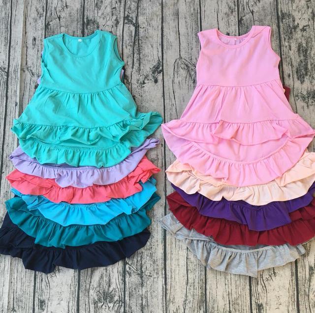 572372b9d sweetypplain Baby girls cotton frocks designs toddler ruffle ...
