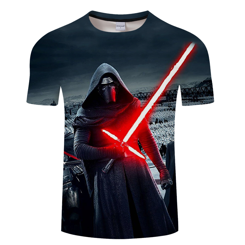 High Quality Man T Shirt Star Wars Cartoons Clothing Movie  3DT-shirts Men Adult darth vader Funny TShirts For TeenBoys  ZOOTOP