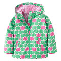 Girls Jackets with hooded Flower Trench Outerwear for girl Kids coat Children clothing Kd 3-7Y Raincoat Spring Kids clother