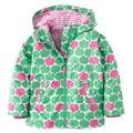 Meninas Jaquetas com capuz Flor Trincheira Outerwear para a menina Crianças Crianças revestimento roupa Kd 3-7A Primavera Capa de Chuva As Crianças clother