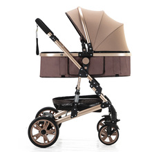 High landscape stroller reclining lightweight folding shock absorber stroller child trolley booster seat car