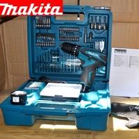 Япония Makita HP330DWE зарядки Ударная дрель литиевая батарея ручная дрель шуруповерт 6000 22500ipm 400 1500 об./мин. 24/12N. м