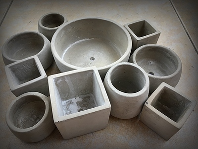 Ceramic Clay Pots Mold Concrete Planter Silicone Mould For