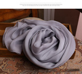 Winter long grey scarf women quality brand designer pure 100% silk scarfs autumn and winter warmer wholesale scarves and shawls