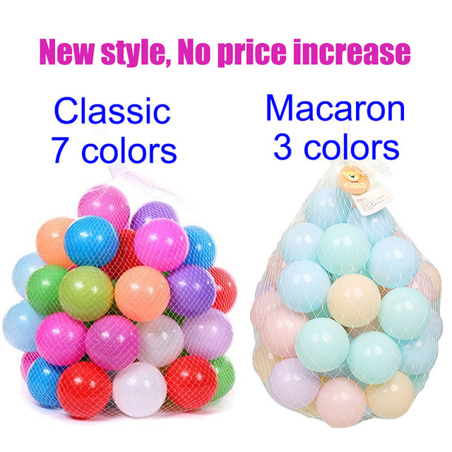 200 PCS/bag Outdoor Sport Ball Colorful Soft Water Pool Ocean Wave Ball Baby Children Funny Toys Eco-Friendly Stress Air Ball 3