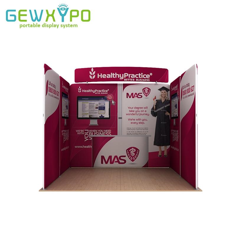 3m * 3m 무역 박람회 부스 그래픽 인쇄를 가진 고품질 휴대용 긴장 직물 기치 광고 전시 벽 (선택)