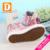 Lona de Color Rosa Flores de Las Niñas 2017 Primavera Muchachas de la Marca de Zapatillas Bowtie Zapatos de La Escuela Para Niños De Goma Plana de Alta Calzado Chica