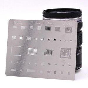 Image 2 - 12 قطعة IC إصلاح بغا إعادة صياغة Reball rebيعادل الإستنسل مجموعة آيفون X 8 Plus 8 7 6 6S 5s 4s قالب إصلاح أدوات التدفئة المباشرة