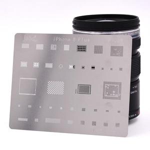 Image 2 - 12 pcs IC תיקון BGA עיבוד חוזר Reball Reballing סטנסילים סט עבור iPhone X 8 בתוספת 8 7 6 6 S 5S 4S תבנית תיקון ישיר חימום כלים