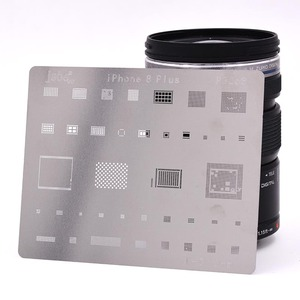 Image 2 - 12pcs IC Repair BGA Rework Reball Reballing Stencils Set for iPhone X 8 Plus 8 7 6 6S 5S 4S Template Repair Direct Heating Tools