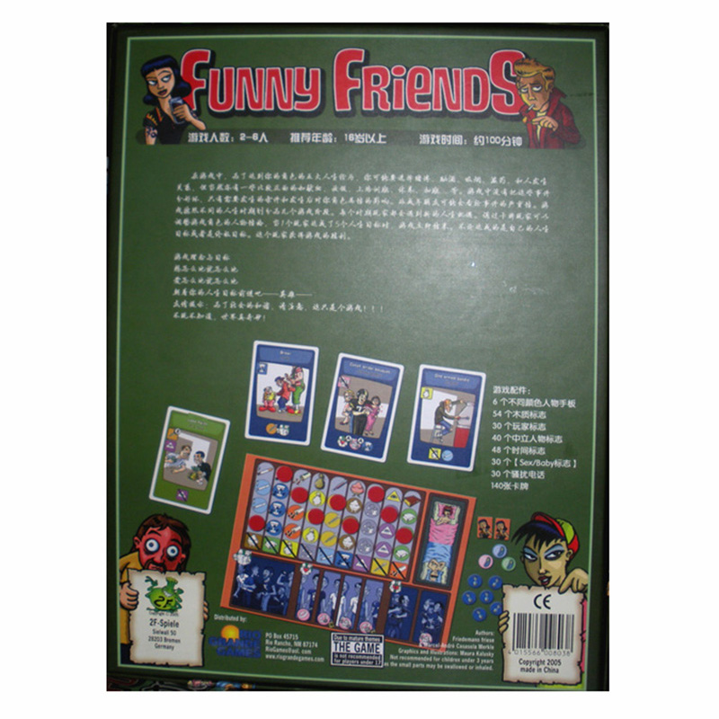 2 6 Players Funny Friends Board GameCards Games Easy To Play Funny Game