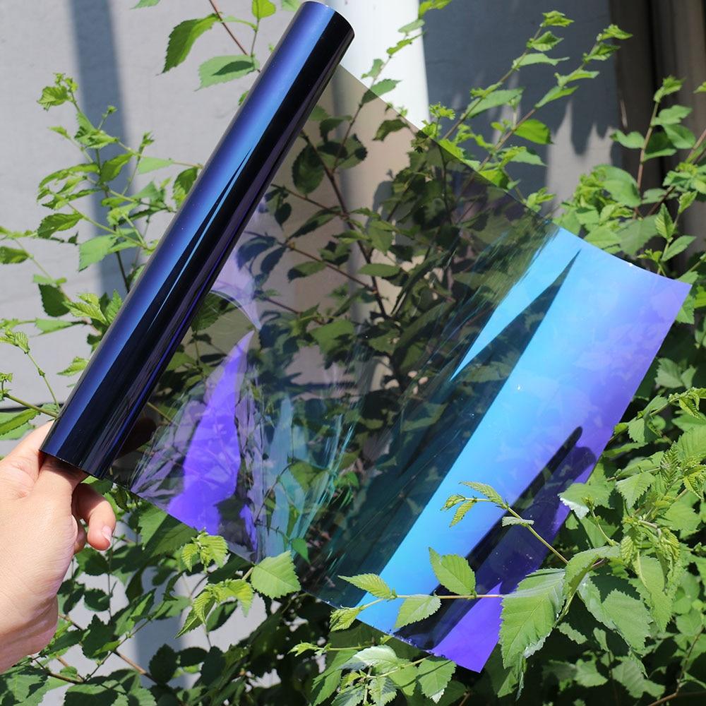 1.52m x 2m 23% VLT Chameleon Window Film Turned Change Color Car Window Tint Sticker Foil Solar Protection1.52m x 2m 23% VLT Chameleon Window Film Turned Change Color Car Window Tint Sticker Foil Solar Protection