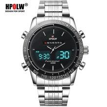 LED Army Military Quartz Watch Luxury Brand Men Full Steel Analog Digital Sports Watches Luminous Clock Relogio Masculino