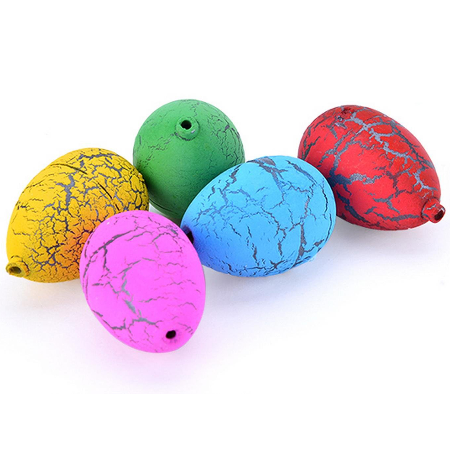 New 60PCS Hatching Growing Dino Eggs Add Water Magic Cute Children Toy Colorful