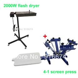 Fast free shipping 4 color 1 station silk screen printing machine 2000w flash dryer t shirt.jpg 250x250