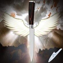 Universalmesser 5 zoll hohe qualität edelstahl küche messer Damaskus muster pakkaholz griff top verkauf neue kochen werkzeuge