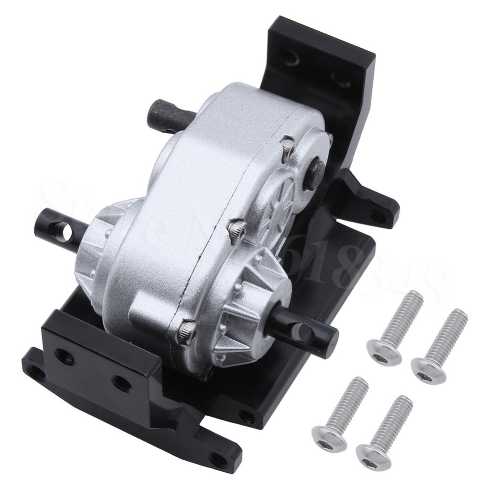 Transfer Case w/ Mount Holder Skid Plate for Axial SCX10 Land Rover D90 RC4WD Gelande II 1/10 RC Crawler Car Accessories стоимость