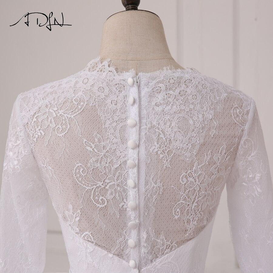 ADLN În stoc Rochii ieftine de nuntă albă Aplică Lace Tulle - Rochii de mireasa - Fotografie 6