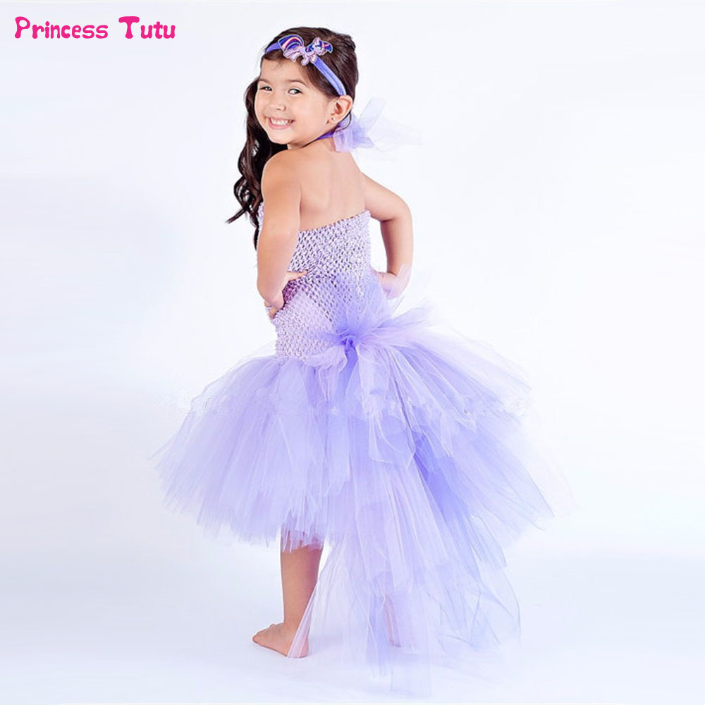 Pony Unicorn Tutu Dress Pink,Lavender Tulle Girls Princess Dress Trailing Halloween Costume For Kids Girl Birthday Party Dresses fancy girl mermai ariel dress pink princess tutu dress baby girl birthday party tulle dresses kids cosplay halloween costume