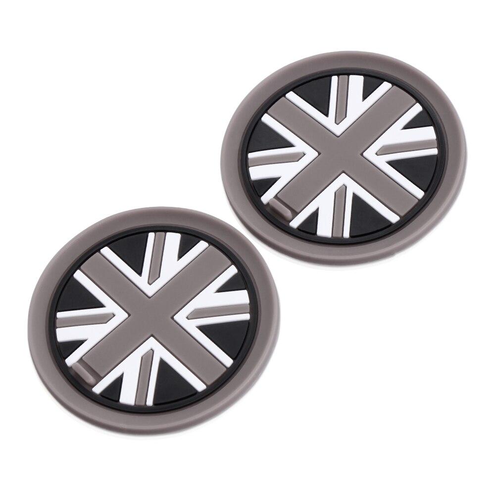 2 pçs/set 73mm Suporte de Copo Coasters Silicone Macio Para MINI Cooper R55 R56 R57 R58 R59 Frente Suportes para Copos
