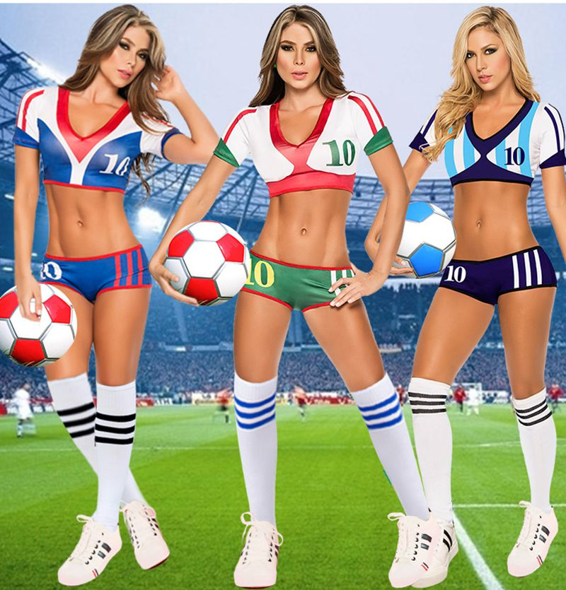 Hot ! Euro Cup Fantasy Football Costume Soccer Baby Football Girl Sexy Shorts Cheerleaders Team Sets Sports Suit,Free Shipping