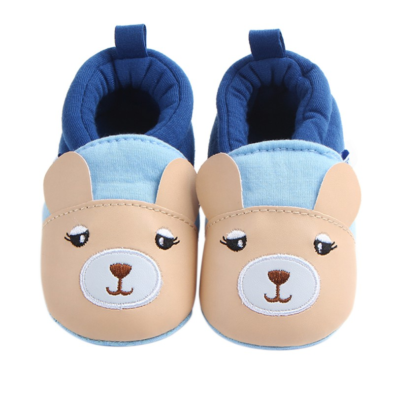 Infant Baby First Walkers Kids Unisex Shoes Rubber Bottom Shallow Cute Baby Boy Girl Cotton Shoes