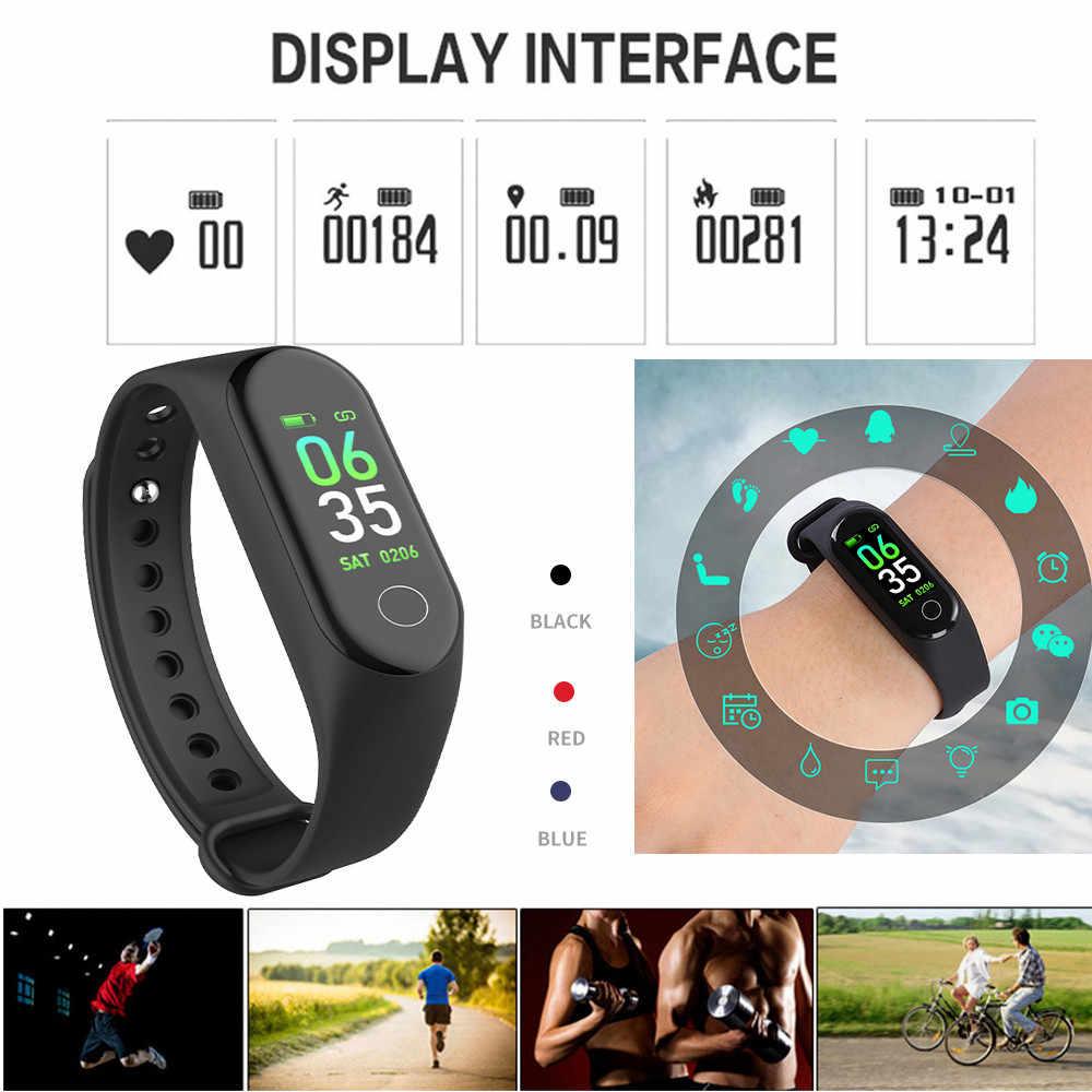 Спортивный смарт-браслет M3 фитнес-трекер ips HD цветной экран Смарт M3 браслет для отслеживания здоровья спортивный ремешок PK Hnawei Honor Band4