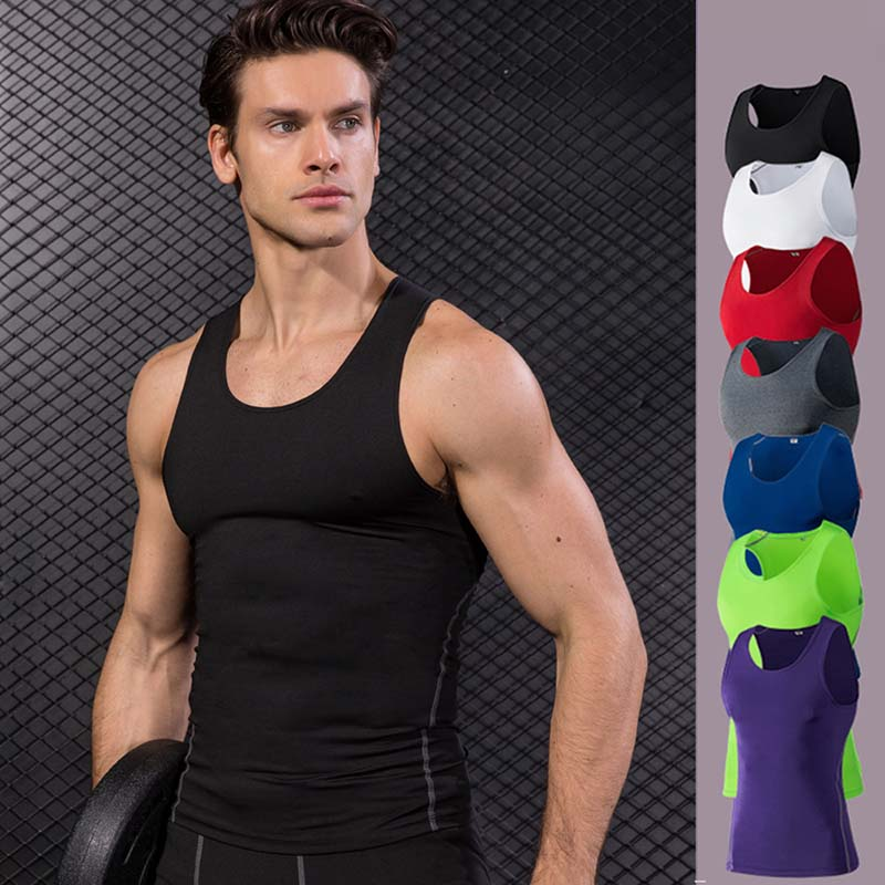 Sports Clothing Brave Breathable Male Tight Vest Running Gym Fitness Body Building Training Sweat Quick-drying Sportswear Accessories Debardeur Homme
