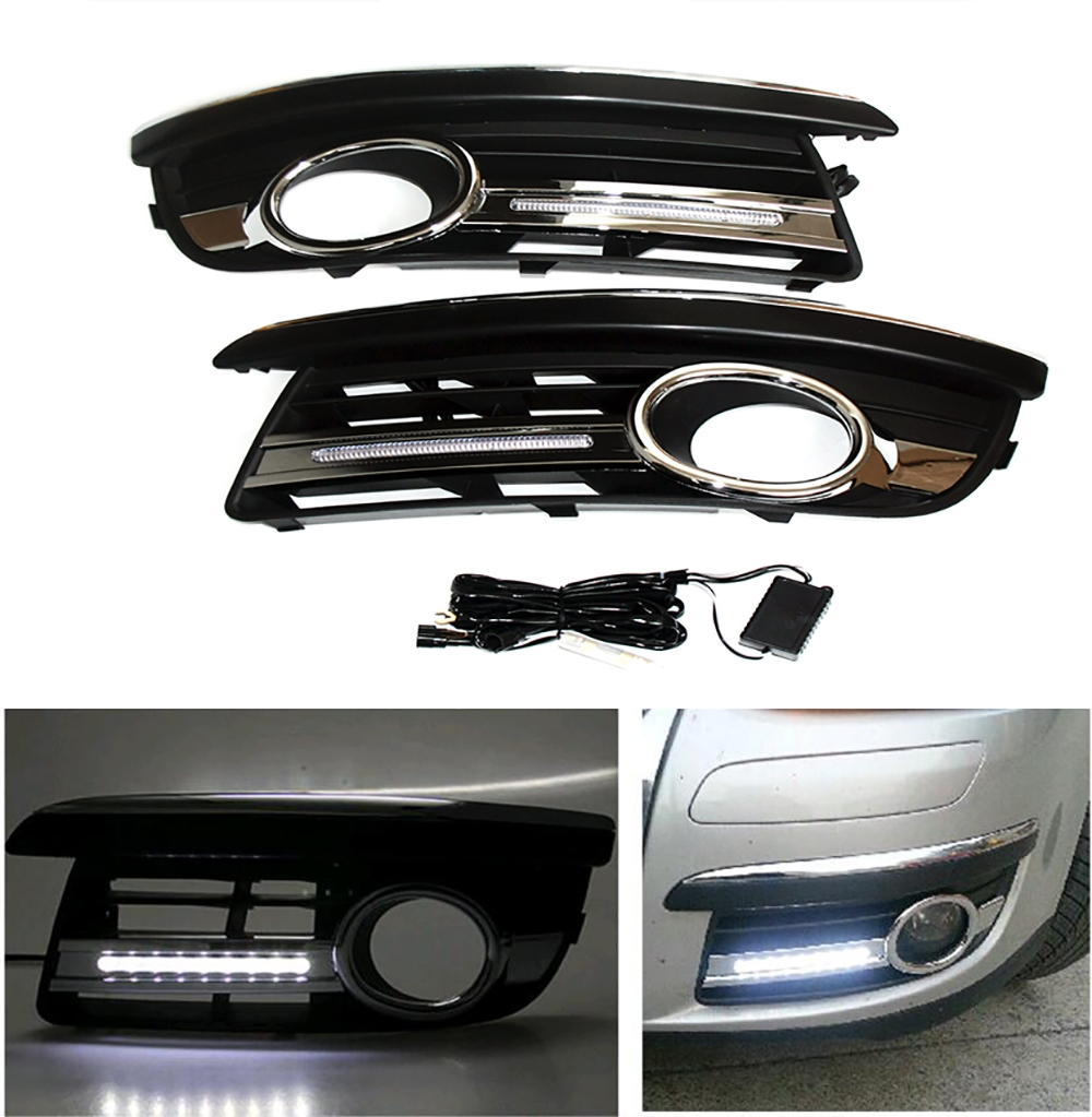 2x car-specific for VW Jetta MK5 Sagitar 2006-2010 LED DRL daytime running light eosuns led daytime running light drl for vw jetta sagitar golf 5 variant 2006 2010 wireless switch control