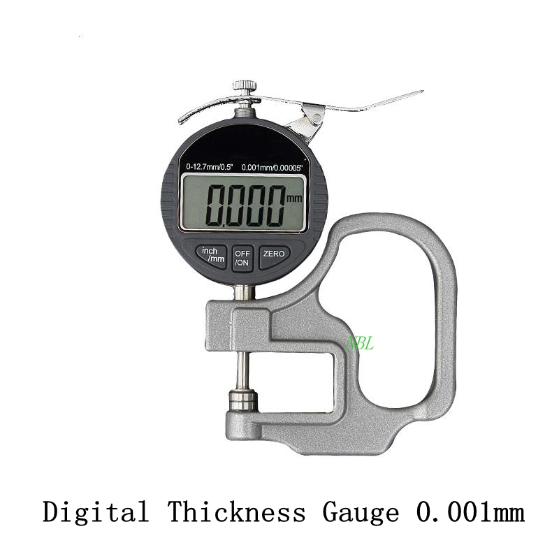 0.001mm Electronic Thickness Gauge 10mm Digital Micrometer Thickness Meter Micrometer Width Measuring Instruments Data Output