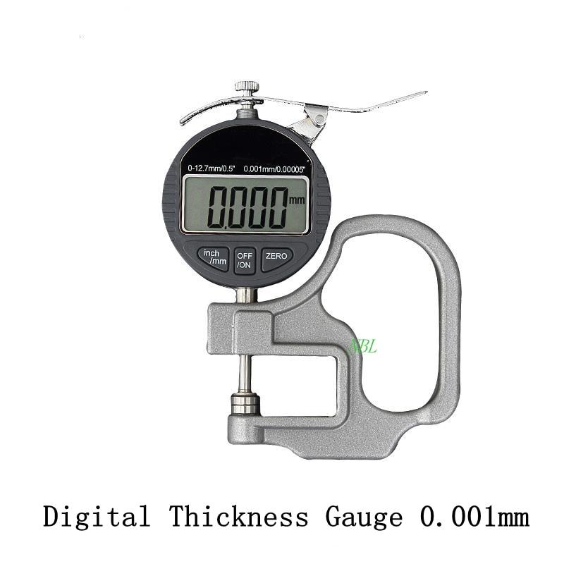 0,001mm Elektronische Dicke Gauge 10mm Digitale Mikrometer Dicke Meter Mikrometer Breite Messgeräte Daten Ausgang Wasserdicht, StoßFest Und Antimagnetisch