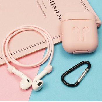 Silikon Abdeckung Für Airpods Schutzhülle Anti-verloren Draht Eartips Strap Halter Für Apple Air Pod Wireless Headset zubehör