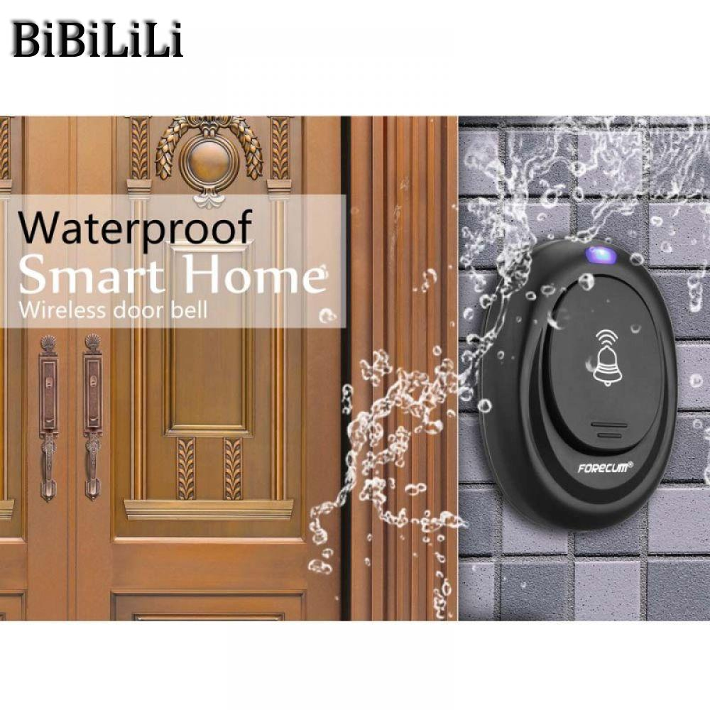 36 Songs Wireless Remote Control Door Bell 100M Range Waterproof Intelligent Doorbell Transmitter Receiver EU Plug lace up plain bikini set