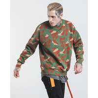 Winter Streetwear Skateboard Hiphop Brand Hoody Army Camouflage Cashmere Round Collar Head Men Long Sleeves Hoodies