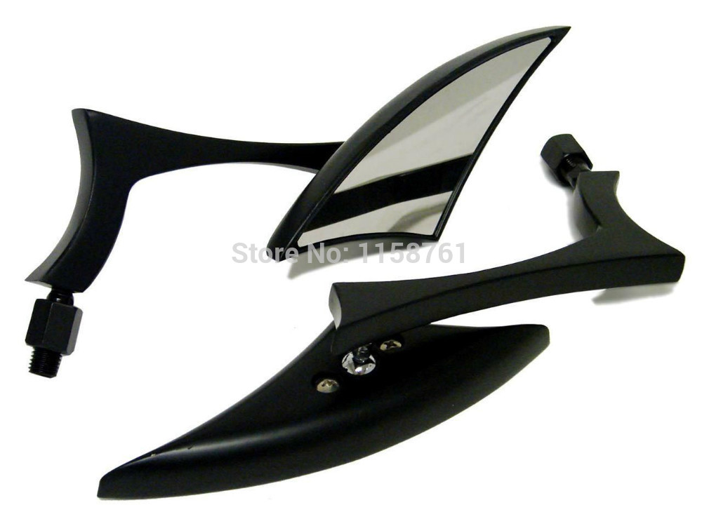 FREE SHIPPING Black Mini Custom Side Mirrors For Harley Sportster Dyna Glide Softail Touring