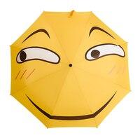 Funny Expression Pack Fold Sunny And Rainy Umbrella Anime Second Element Personality Umbrellas Creative Sunscreen Sun