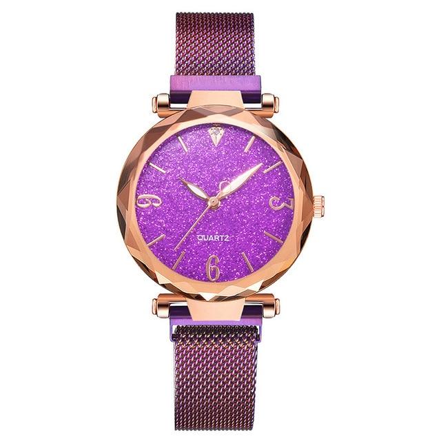 Rose Gold Women Watch 2019 Top Brand Luxury Magnetic Starry Sky Lady Wrist Watch Mesh Female Clock For Dropship relogio feminino 5