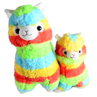 Rainbow 1 Alpaca Vicugna Pacos Plush Toy Japanese Soft Plush Alpacasso Baby Plush Stuffed Animals Alpaca