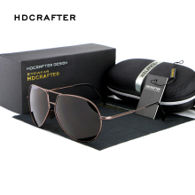 Sunglasses Men Polarized HDCRAFTER New Arrival Brand Designer Mirror Sunglasses Sports Pilot UV400 Sun Glasses for Men