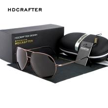 Sunglasses Men Polarized HDCRAFTER New Arrival Brand Designer Mirror Sunglasses Sports Pilot UV400 Sun Glasses for Men
