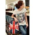 5pcs( Womens Mens School Book Campus Bag Backpack Satchel UK Flag Pattern