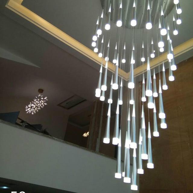 Treppenhaus Led Beleuchtung | Villa Treppenhaus Led Kegel Licht Hangen Kronleuchter Fur Penthouse