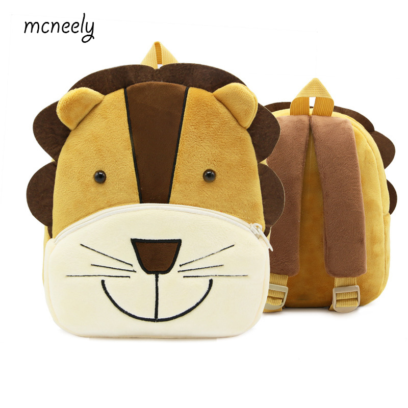 77afe29f897f New Kindergarten Kids Lion Backpacks Baby Girls Boys Cute Schoolbag Plush Backpack  Children Cartoon Toys Gifts School Bags-in School Bags from Luggage ...