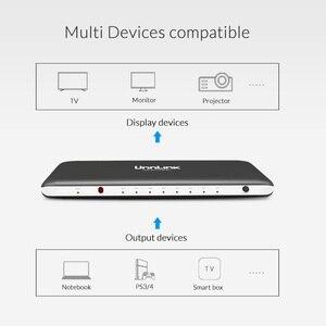 Image 4 - Переключатель Unnlink HDMI 7X1 HDMI 2,0 UHD4K @ 60 Гц HDCP 2,2 HDR 7 в 1 выход с ИК пультом ДУ для Smart TV MI Box3 PS4 проектора