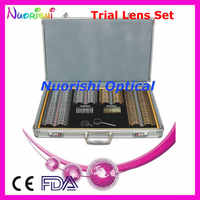 266pcs Gold Silver Color Rims Trial Lens Set Shiny Metal Rim Aluminum Case Packed 266AL-JSGD Lowest Shipping