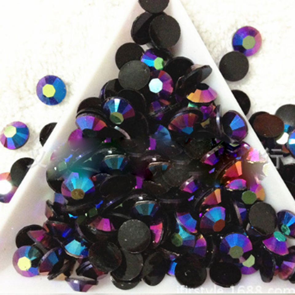 2mm Rhinestones Manicure Nagel Decoratie Crystal Rhinestones on ...